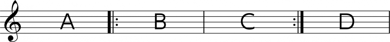 リピート譜例
