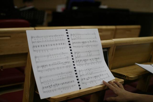譜面と譜面台