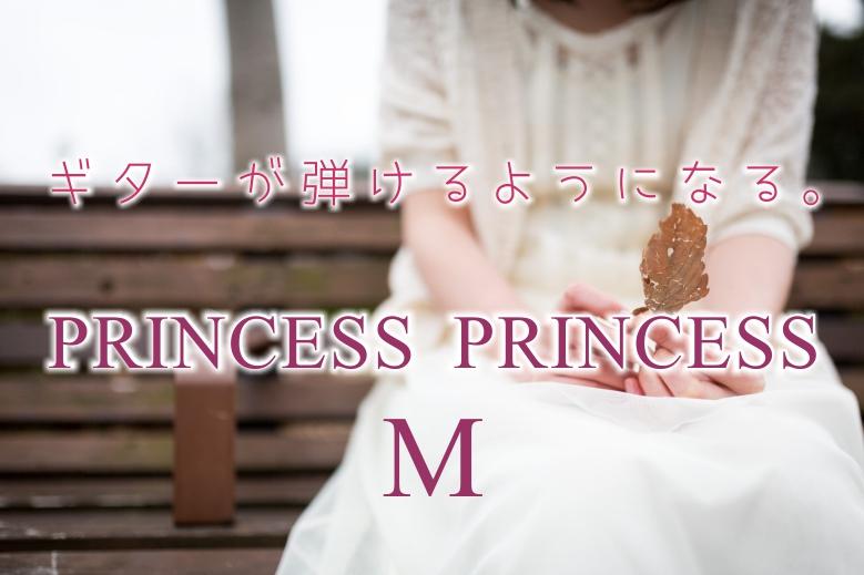 ギター初心者が1日で弾けるようになる!!プリンセス・プリンセス/ M