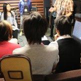 家庭での録音を想定したセルフレコーディング特別講習会-講師の説明