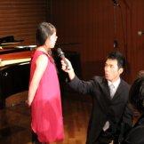 BMSサマーライブ2014 クラッシック部門-インタビュー赤いドレス